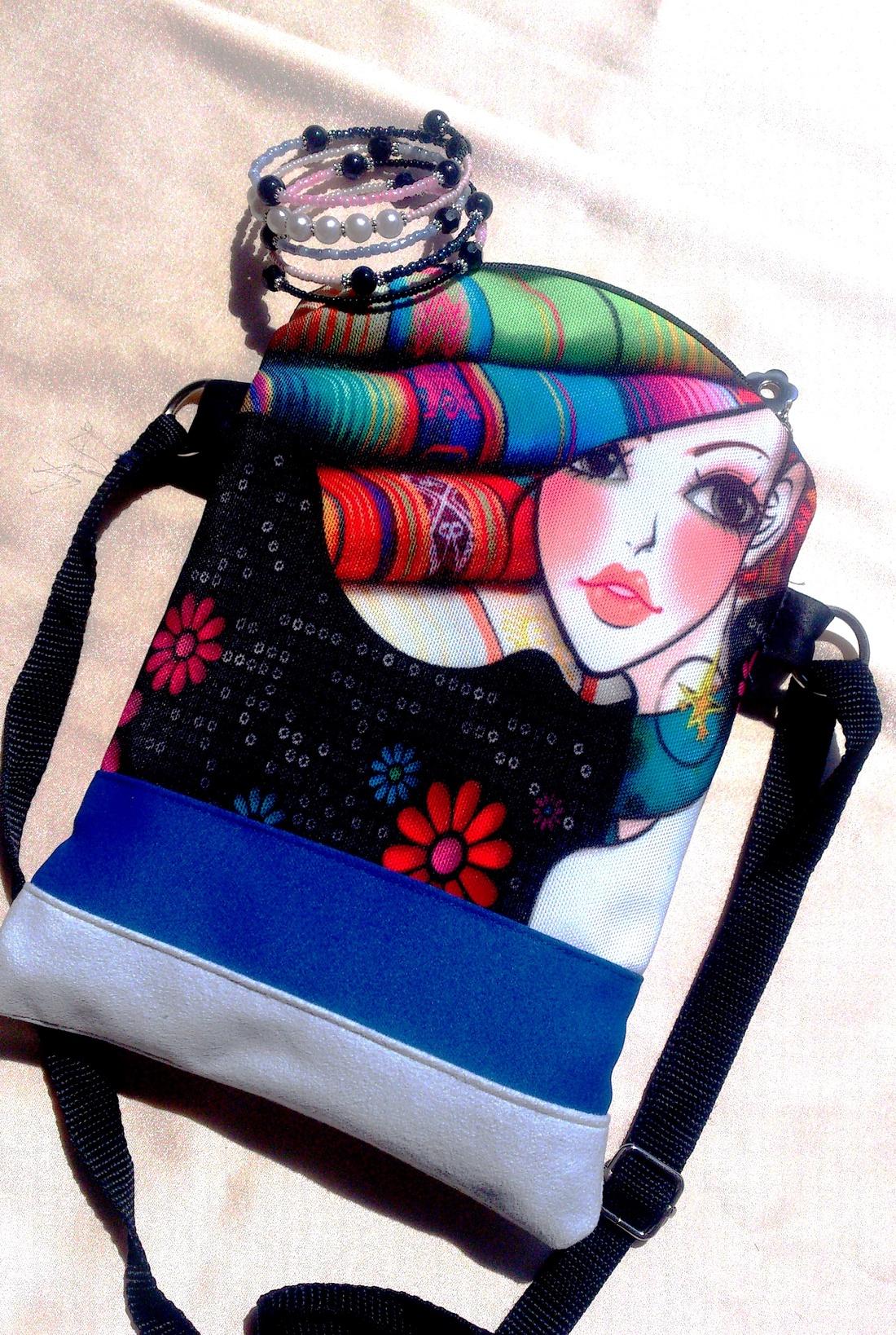 Kék mintás táska 8101ab1d03
