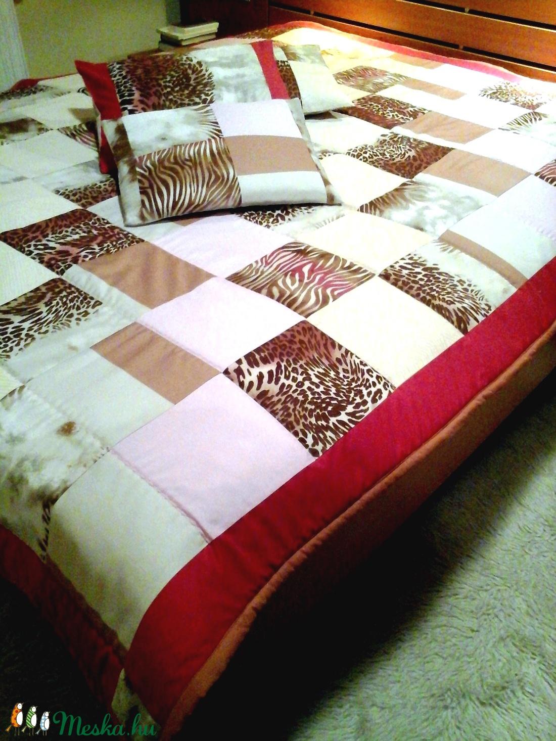 ... Bordó bézs nagyméretű patchwork ágytakaró párna szett (hetenyieva) -  Meska.hu cb734db37b