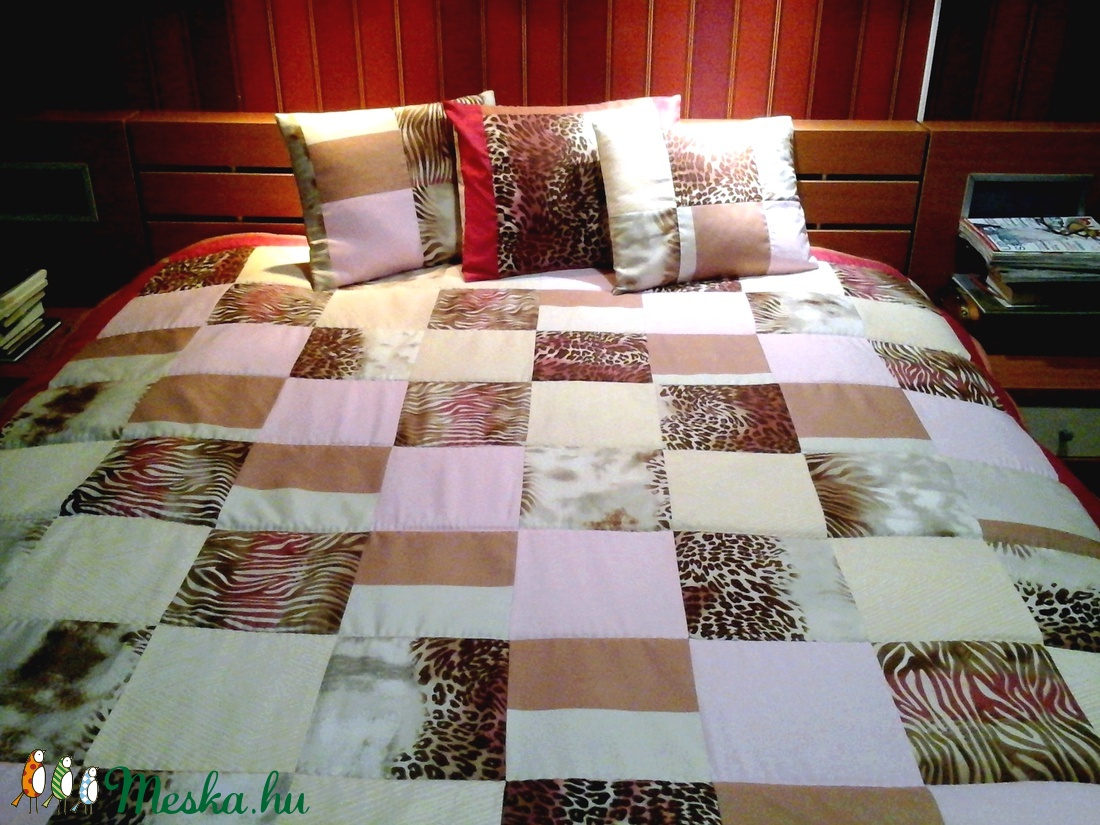 ... Bordó bézs nagyméretű patchwork ágytakaró párna szett (hetenyieva) -  Meska.hu ... 0dd2f2d9ed