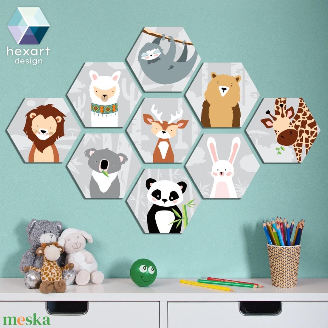 9 db-os babaszoba dekoráció - választható állatokkal (Hexartdesign) - Meska.hu
