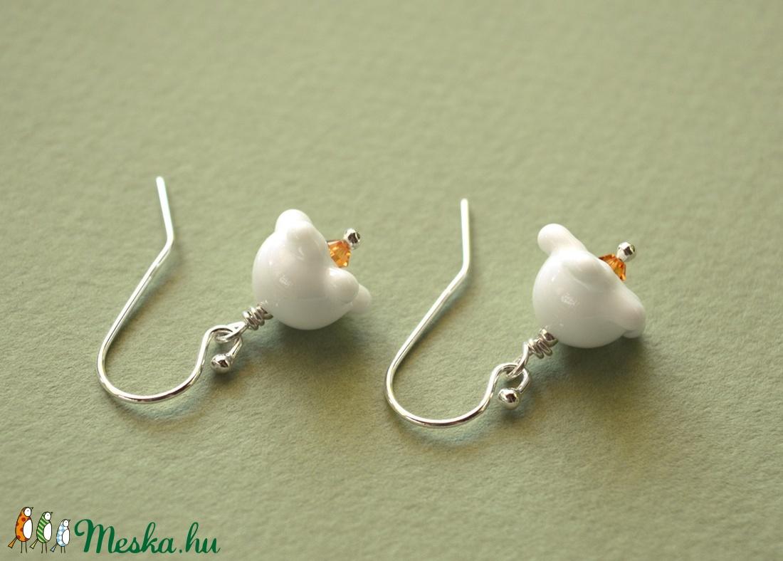GYÖNGYVIRÁGOK, lámpagyöngy fülbevaló ezüsttel - ékszer - fülbevaló - lógó fülbevaló - Meska.hu
