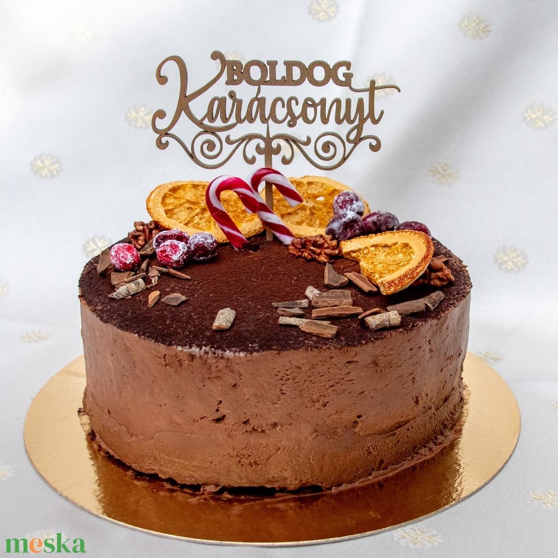 Tortabeszúró, Boldog Karácsonyt, cirádás, lézervágott, 4 mm vastag, festhető - otthon & lakás - konyhafelszerelés - sütidísz - Meska.hu