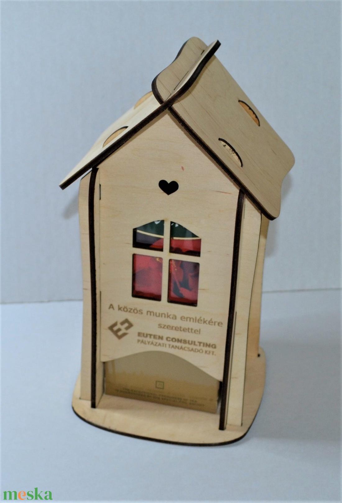 Teaház, fából készült, dobozos tea tárolására (HisziArt) - Meska.hu