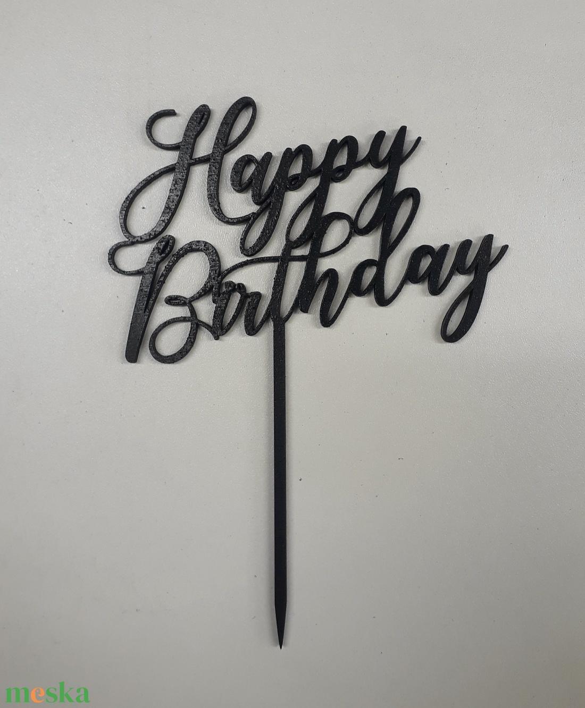 Happy birthday tortabeszúró (HisziArt) - Meska.hu