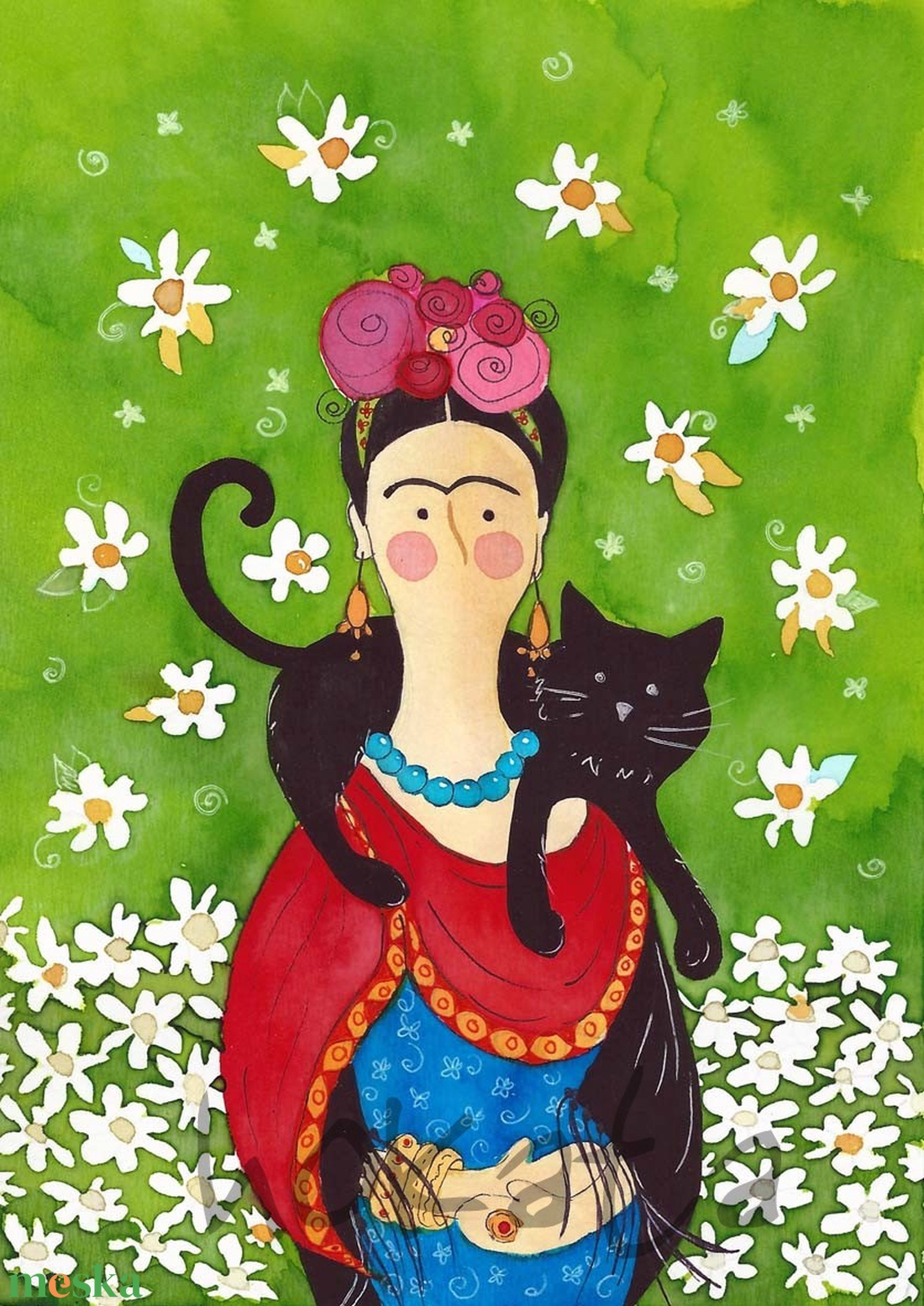 Frida- A4-as méretű nyomat (Hokata) - Meska.hu