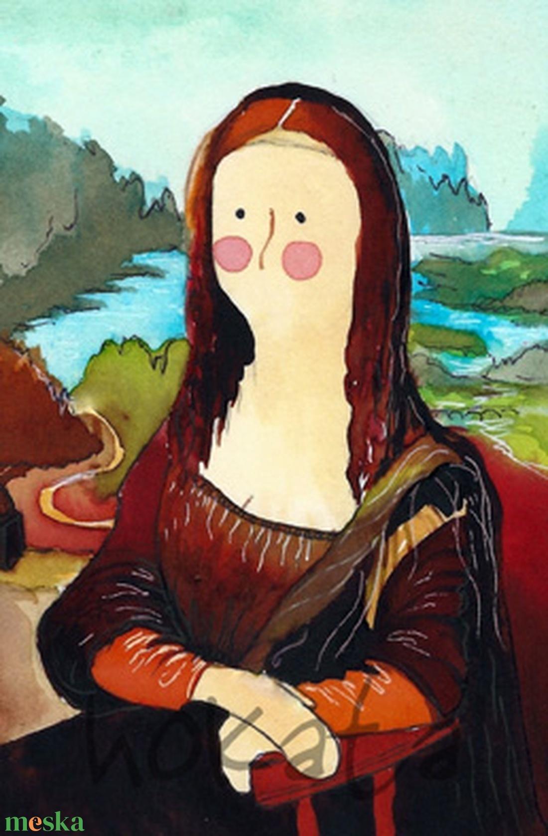 Mona Lisa- A4-as méretű nyomat (Hokata) - Meska.hu