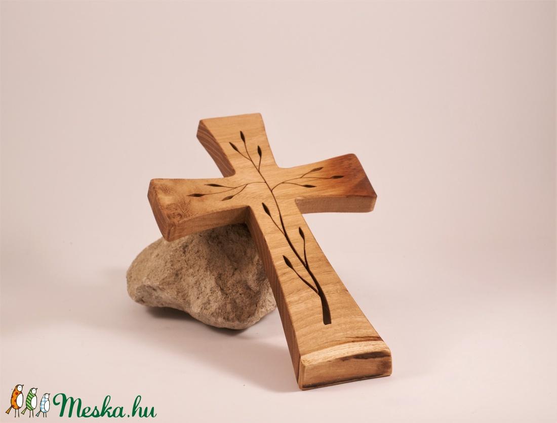 Mintás fakereszt  - otthon & lakás - spiritualitás & vallás - kereszt - Meska.hu