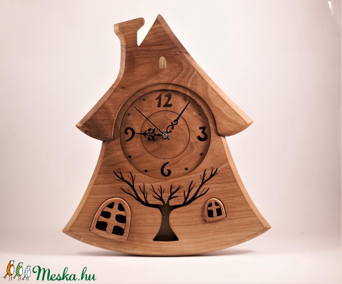 Házikó falióra, fa falióra, faóra  - otthon & lakás - dekoráció - falióra & óra - Meska.hu