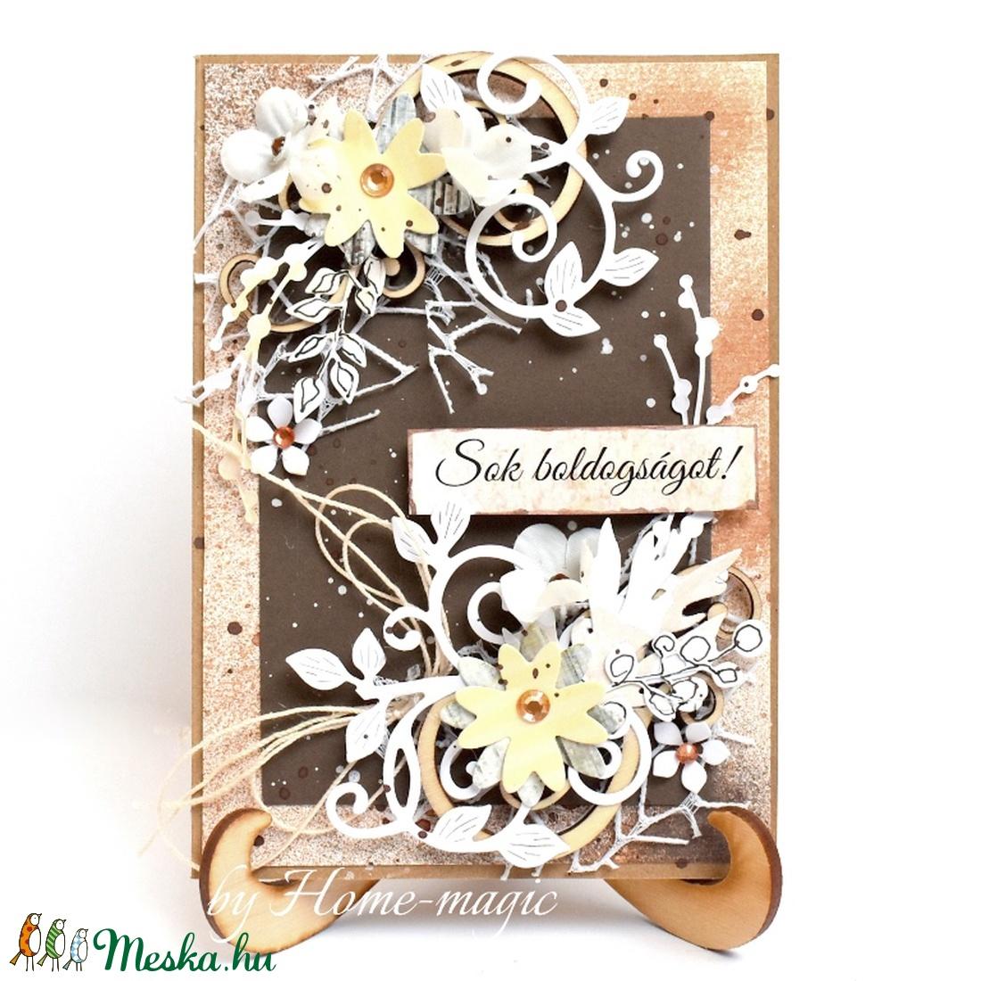 Kézzel készült képeslap, üdvözlőlap, ajándékkísérő - borítékkal, esküvői pénzátadó - Meska.hu
