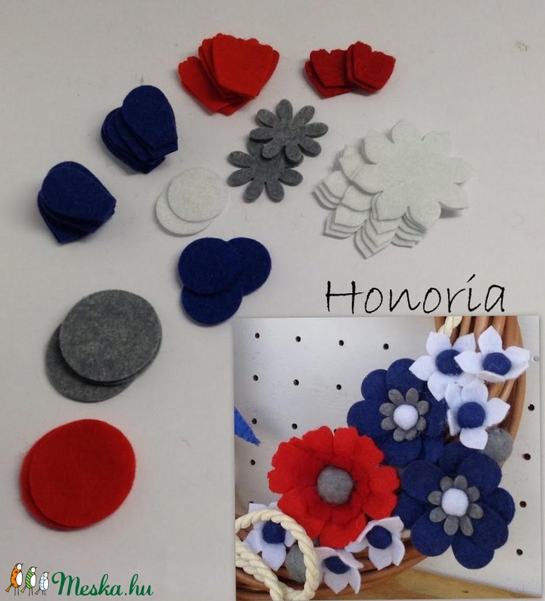 Tengerész ajtódíszhez virágok-csináld magad! (Honoria) - Meska.hu