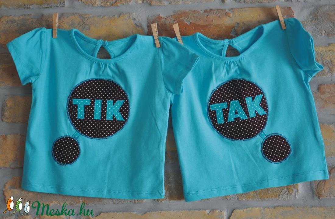 IKREKNEK! Tik-Tak pólók, türkiz (ikerbababolt) - Meska.hu