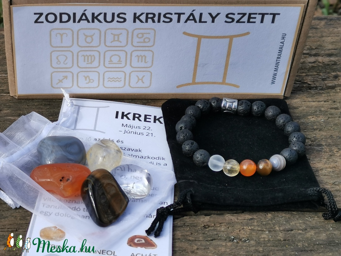 Zodiákus kristály szett- Ikrek - Meska.hu