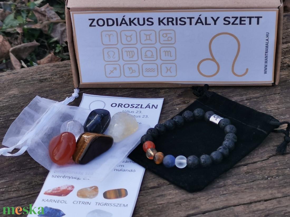 Zodiákus kristály szett- Oroszlán - Meska.hu