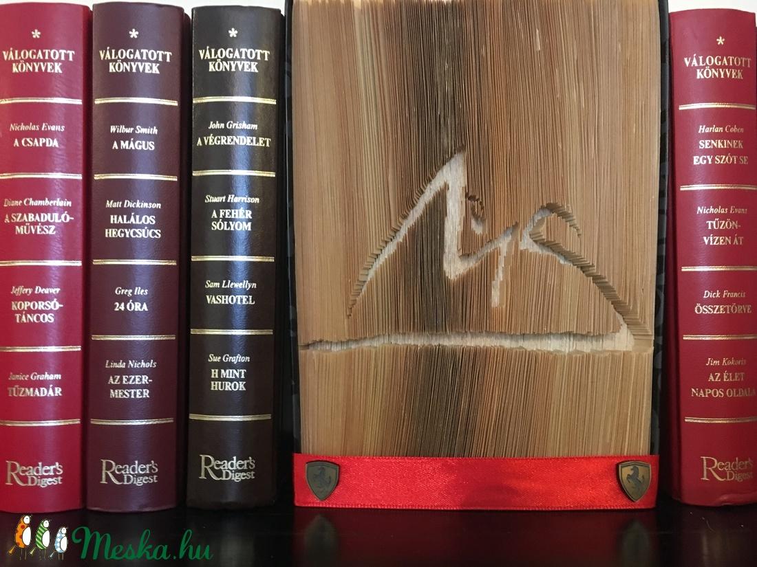 Egyedi Logós vágott-hajtogatott könyv, könyvszobor születésnapra, névnapra, karácsonyra- Rendelésre  (IldiKonyvszobrai) - Meska.hu