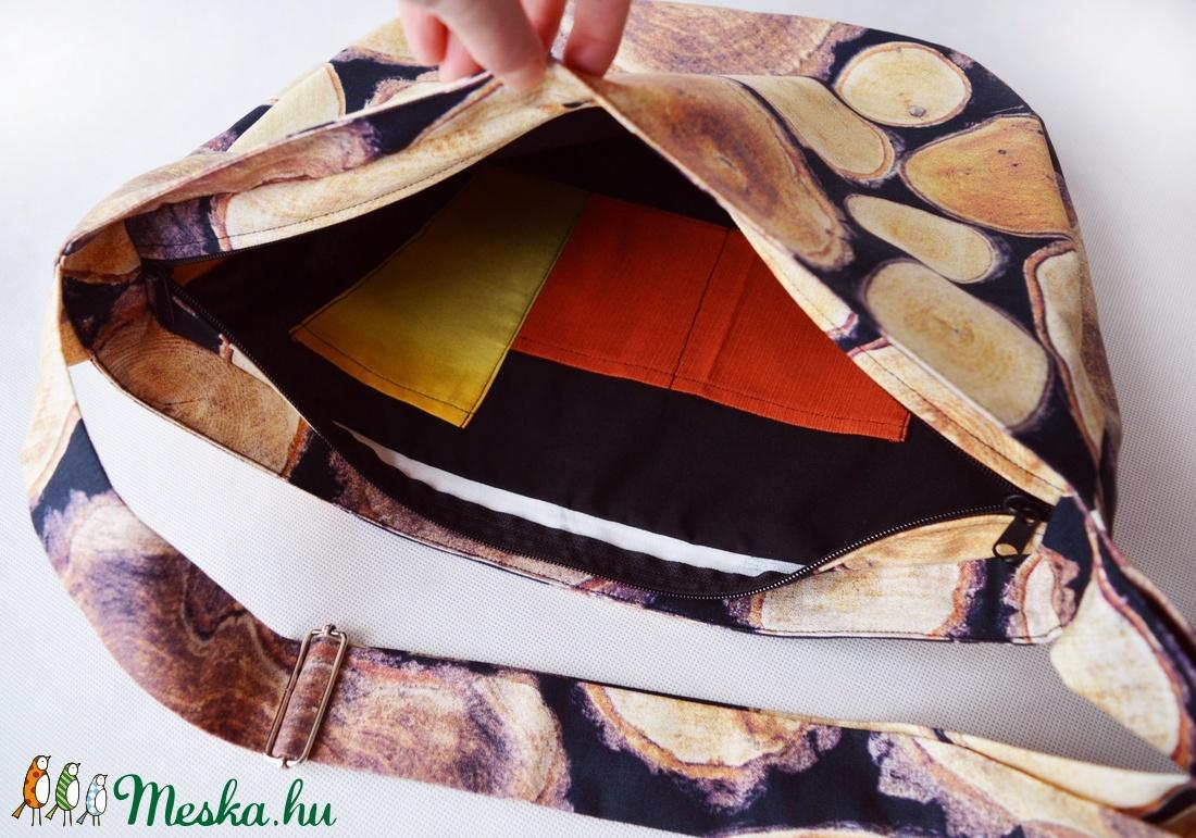1.1 BASIC KOLLEKCIÓ Válltáska / Oldaltáska / Biciklis táska farönk mintás - táska & tok - kézitáska & válltáska - vállon átvethető táska - Meska.hu