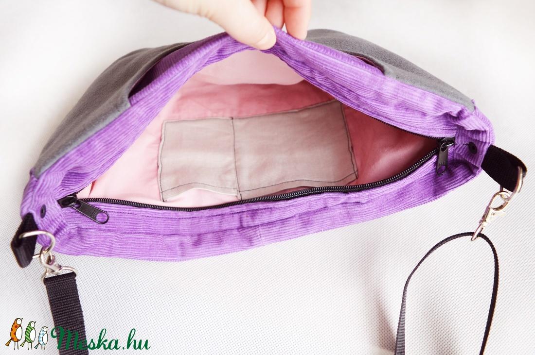 Pluto szürke lila kis táska - táska & tok - biciklis & sporttáska - biciklis táska, nyereghuzat - Meska.hu