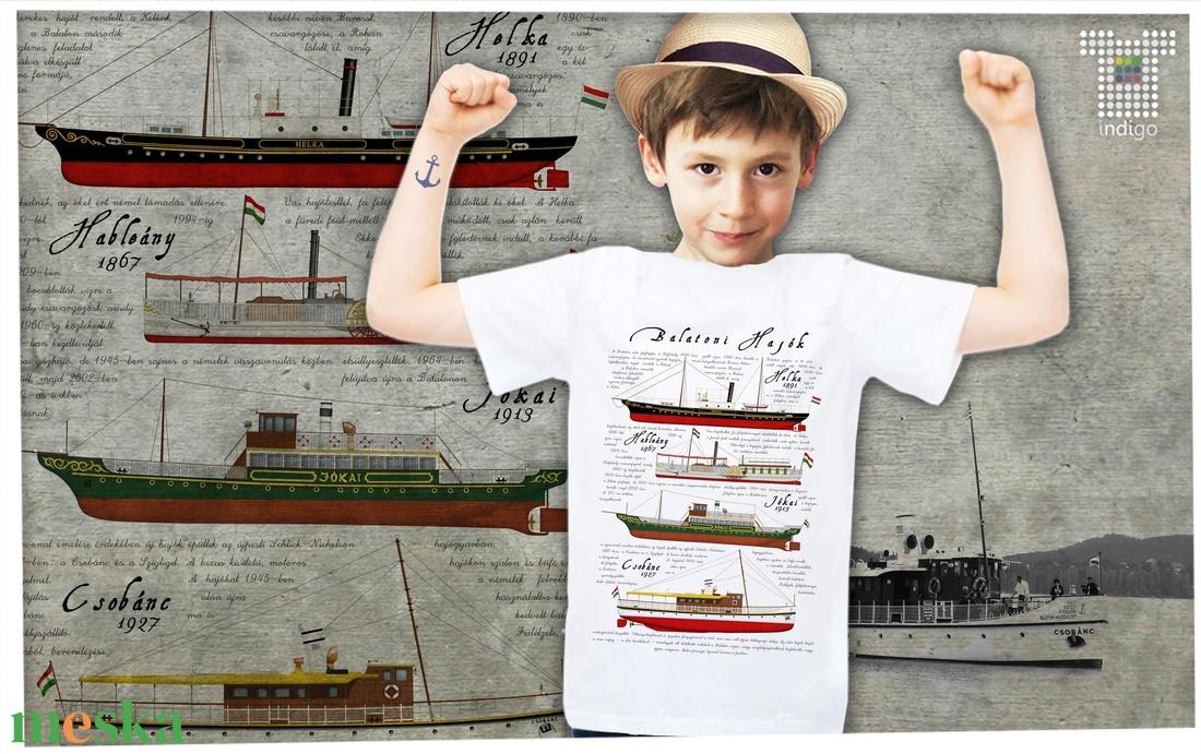 balatoni hajók II. gyerek pólón (IndigoMuhely) - Meska.hu f4730ef28e
