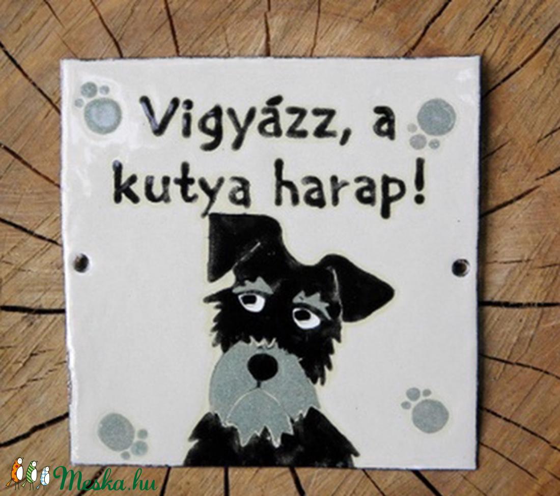 Harapós kutya - tűzzománc tábla  (InnocentDesign) - Meska.hu