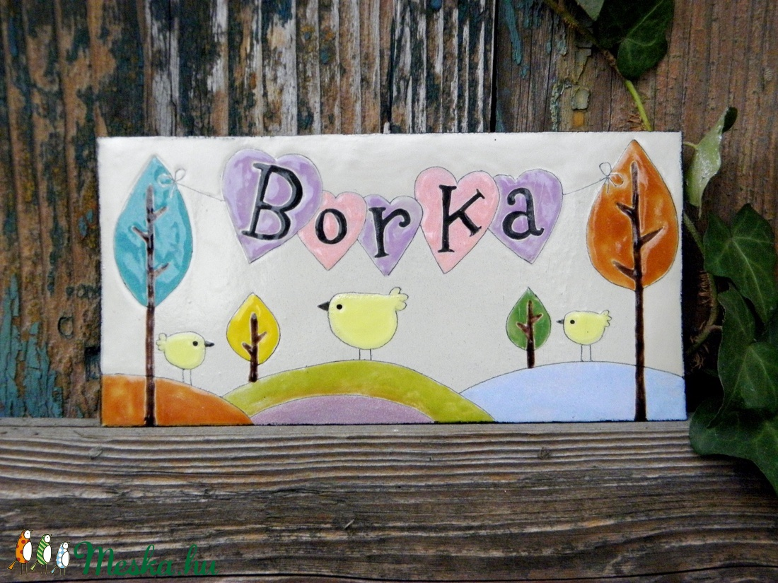 Névtábla - Borka  (InnocentDesign) - Meska.hu