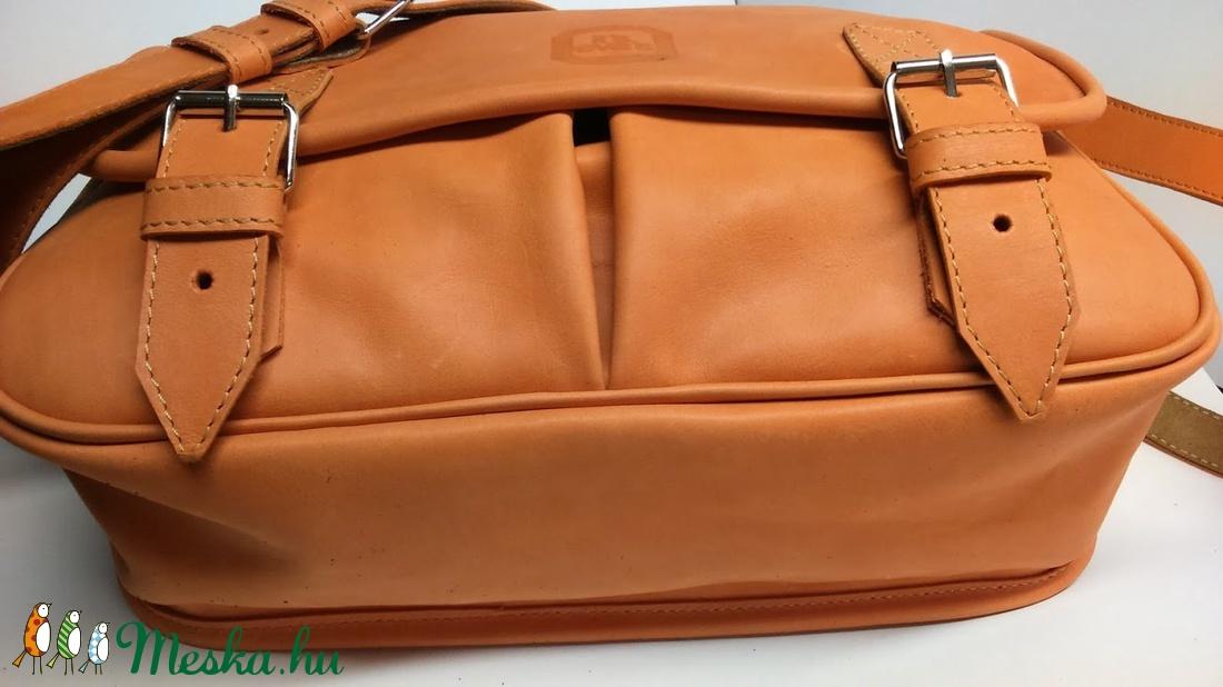 Narancssárga marhabőr táska sétához dbd5414729