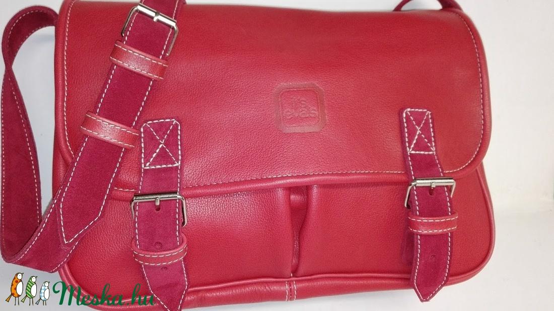 Piros marhabőr táska sétához 8e0af9ac4f