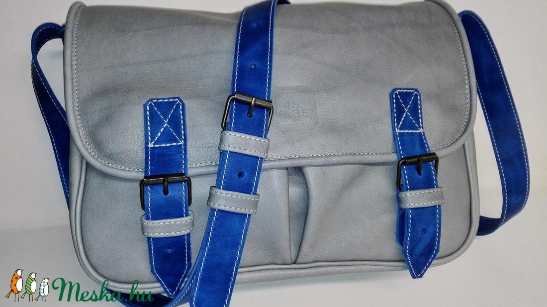 Szürke-kék marhabőr táska sétához b724e106a4