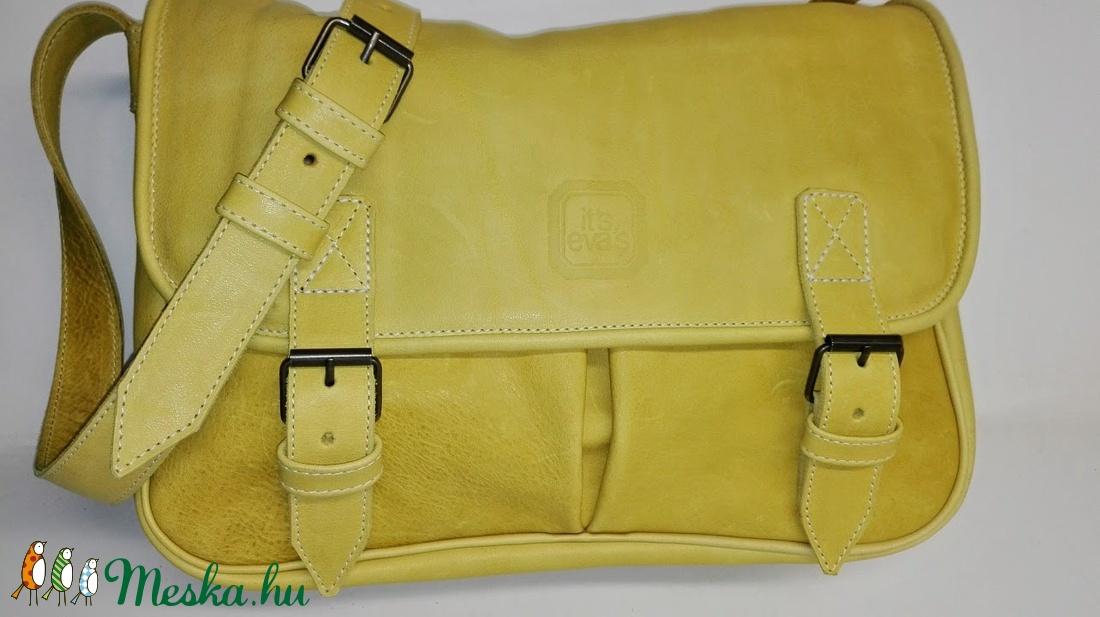 Sárga marhabőr táska sétához cf343183ba