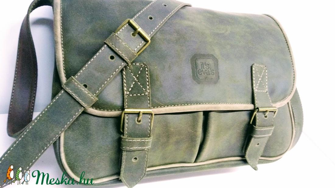 Mohazöld marhabőr táska sétához ae0f7ed16c