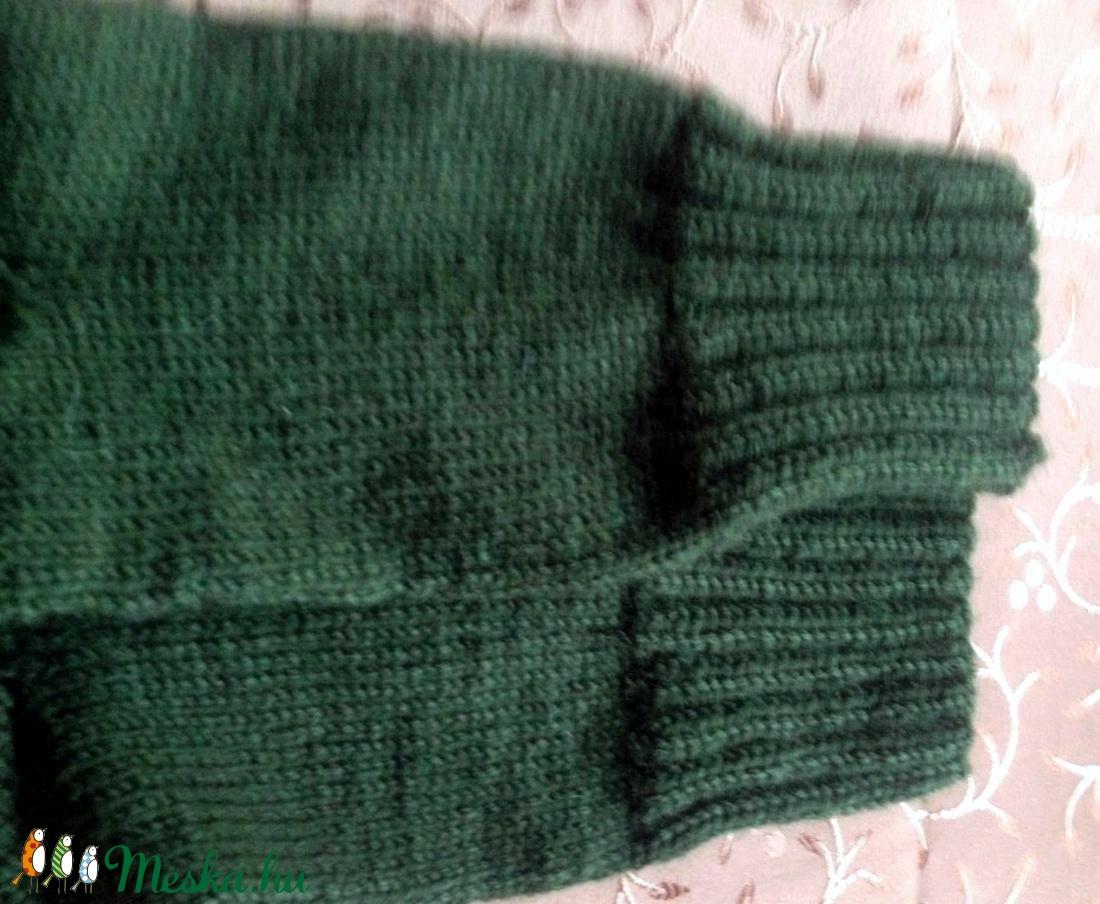 Vastag zöld zokni. - ruha & divat - cipő & papucs - zokni - Meska.hu