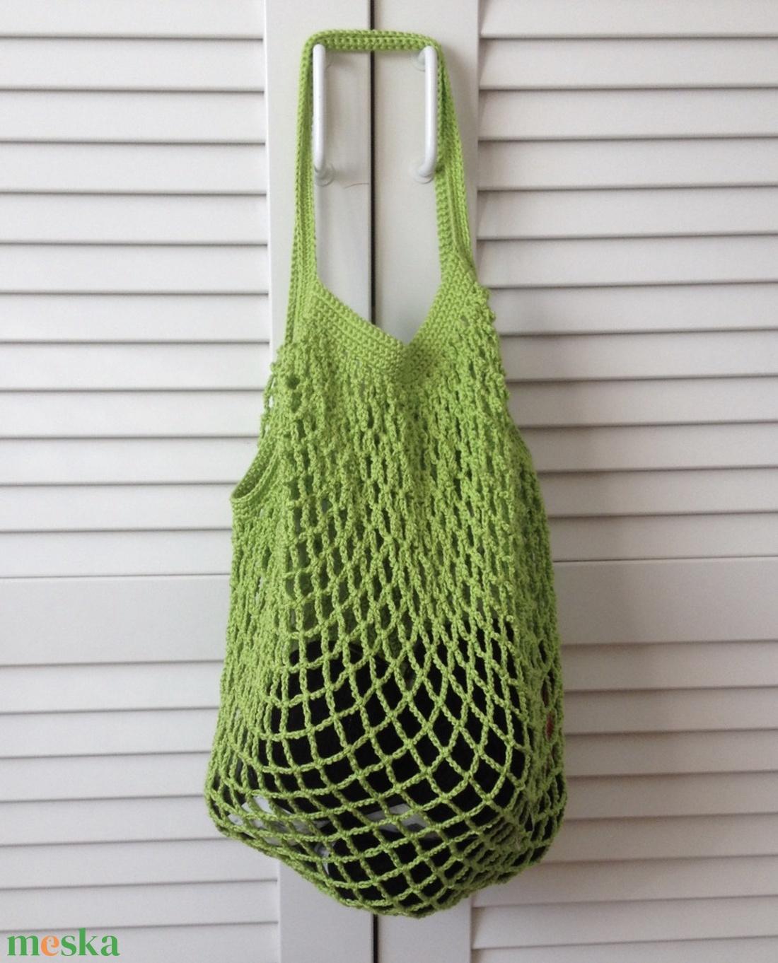 Tavaszi élénk zöld bevásárló táska - táska & tok - bevásárlás & shopper táska - shopper, textiltáska, szatyor - Meska.hu