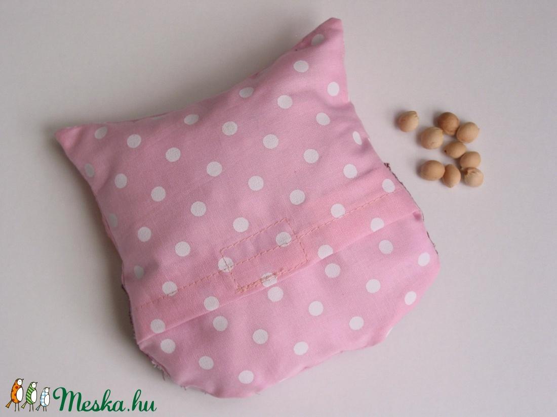 Bagoly doktor- meggymag párna (rózsaszín pöttyös -csíkos) (Jam81) - Meska.hu e886687696
