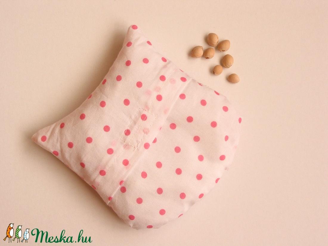 Bagoly doktor- meggymag párna (fehér pöttyös -rózsaszín csíkos) (Jam81) -  Meska.hu db17872dd1
