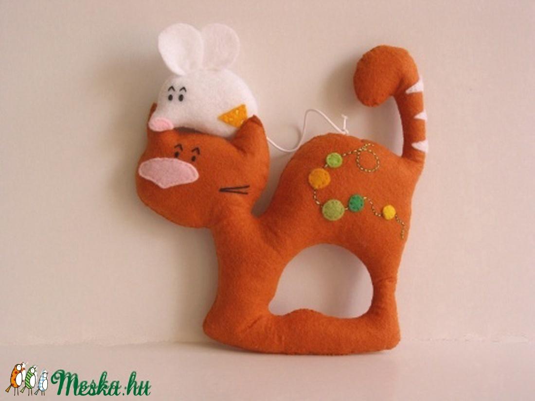 Elválaszthatatlan kisbarátok- macska-egér páros - játék & gyerek - plüssállat & játékfigura - cica - Meska.hu