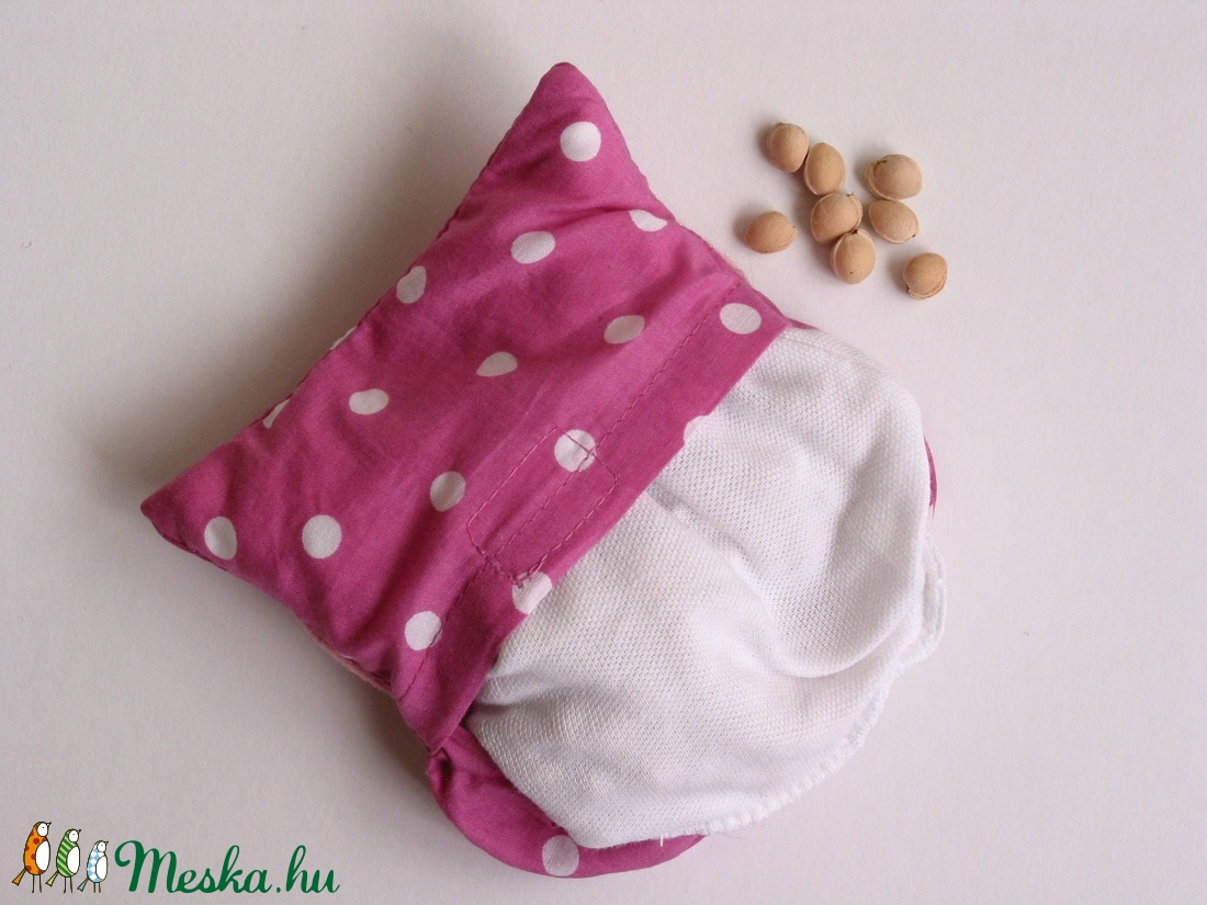 ... Bagoly doktor- meggymag párna (rózsaszín pöttyös -virágos) (Jam81) -  Meska ... 06c2424ede