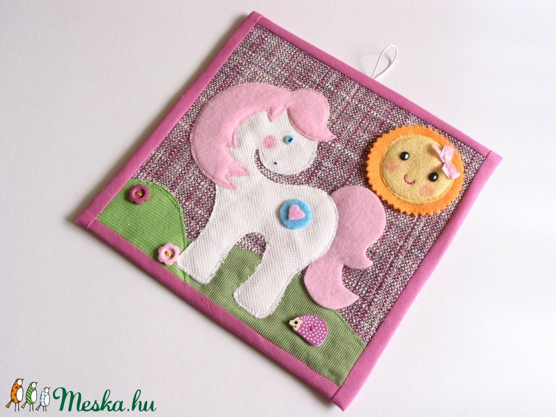 Pónis-virágos-sünis-mosolygó napocskás textilkép (Azonnal vihető) - játék & gyerek - babalátogató ajándékcsomag - Meska.hu