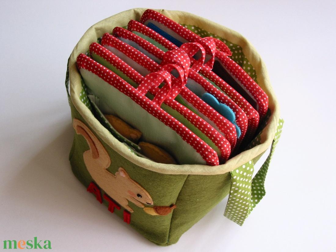 54ce8731e2 Matató textilkosár készségfejlesztő, kreatív gyakorló lapokkal (RENDELHETŐ)  (Jam81) - Meska.