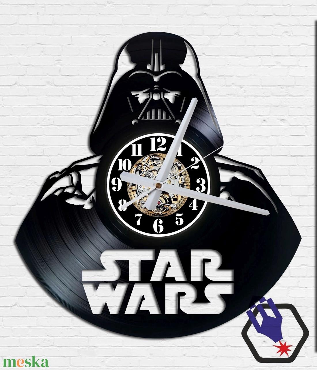 Falióra bakelitlemezből készítve - Star Wars Vader #1 - Meska.hu