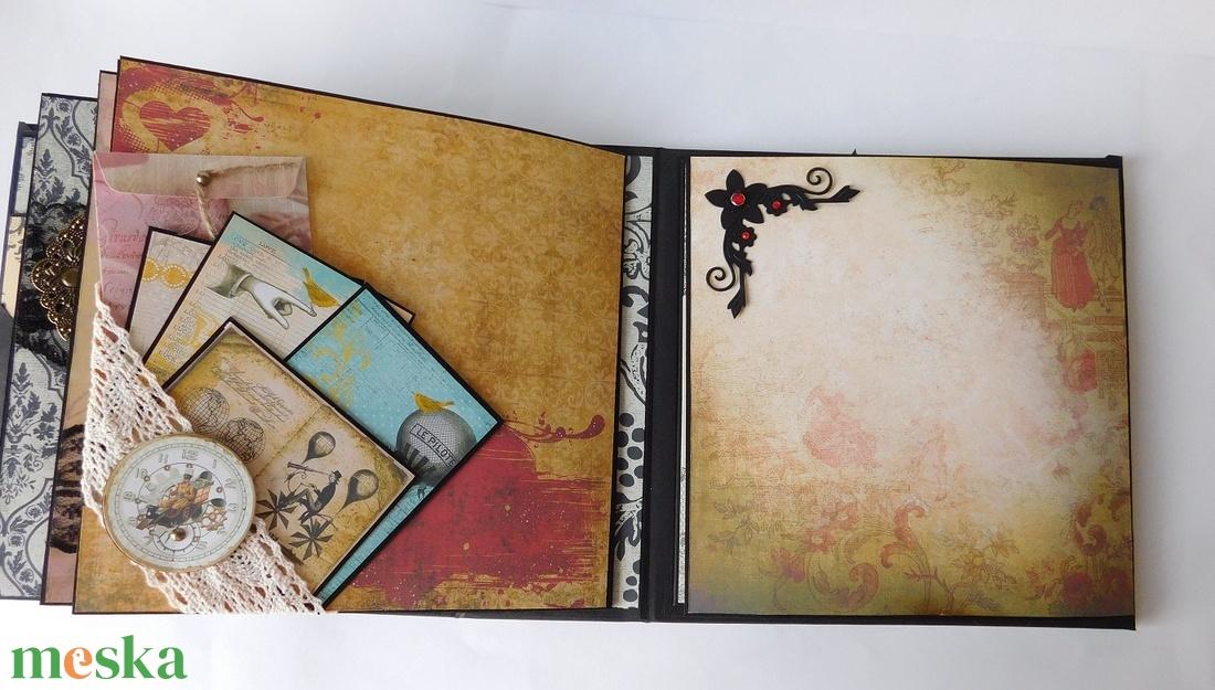 My dear love... - egyedi, kézműves romantikus- vintage steampunk-love scrapbook fotóalbum - otthon & lakás - papír írószer - album & fotóalbum - Meska.hu