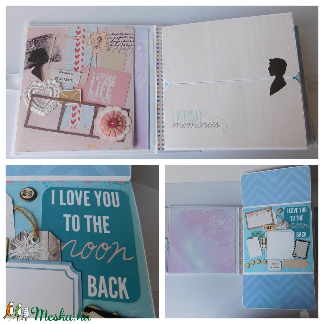 Modern szerelem - egyedi, kézműves LOVE/ esküvői scrapbook album - otthon & lakás - papír írószer - album & fotóalbum - Meska.hu