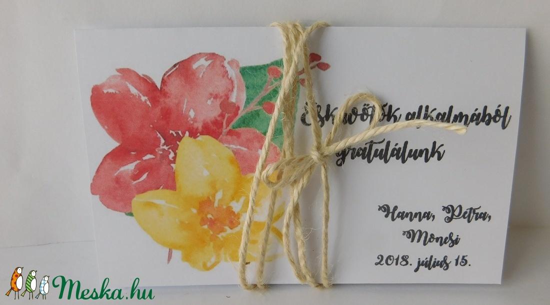 Summer day - egyedi, modern, amerikai stílusú pénzátadó esküvőre, virágos, zsebes, poppy (Jbgifts) - Meska.hu
