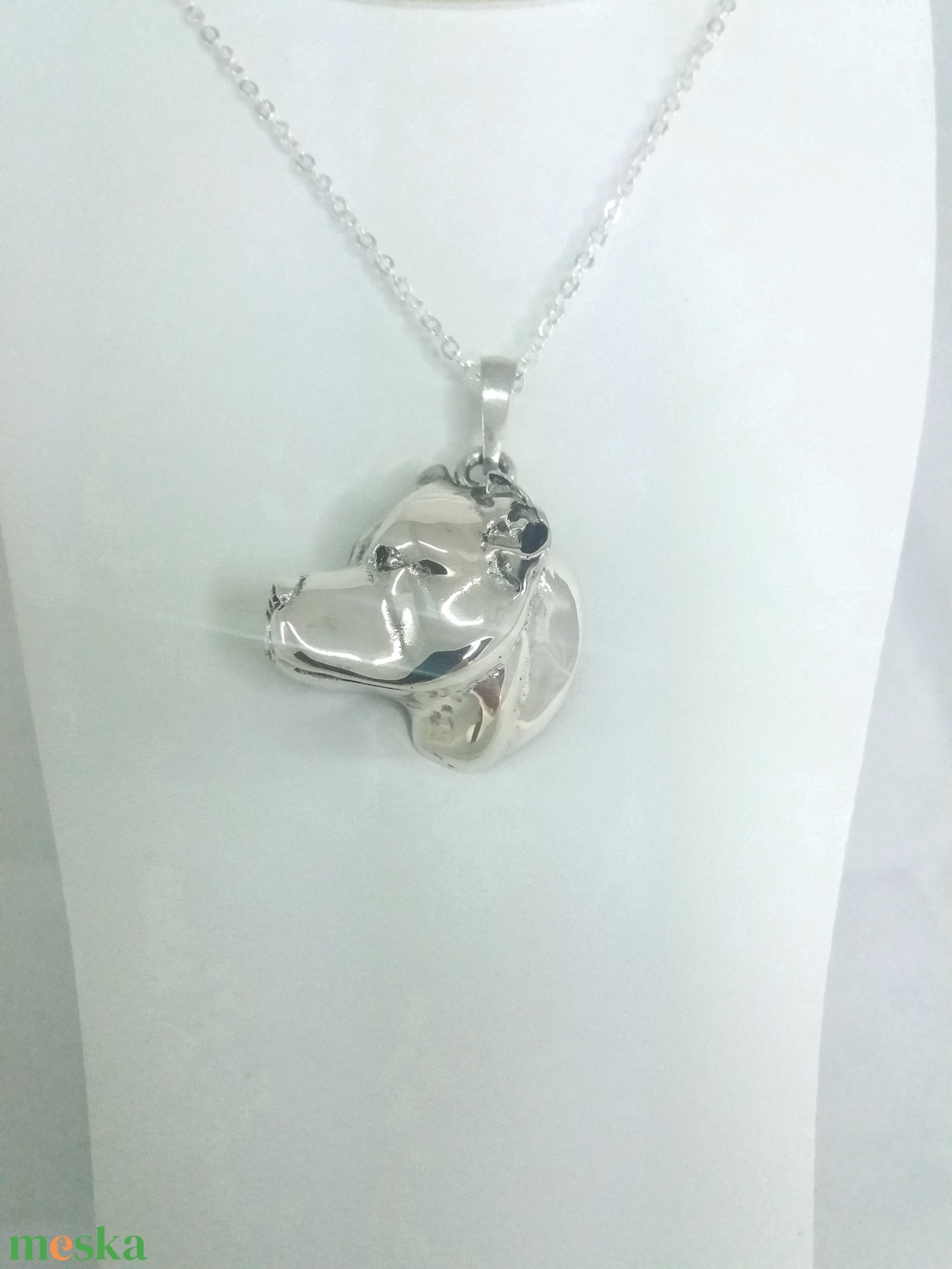 Argentín dog ezüst medál díszdobozban (jewelledfriend) - Meska.hu