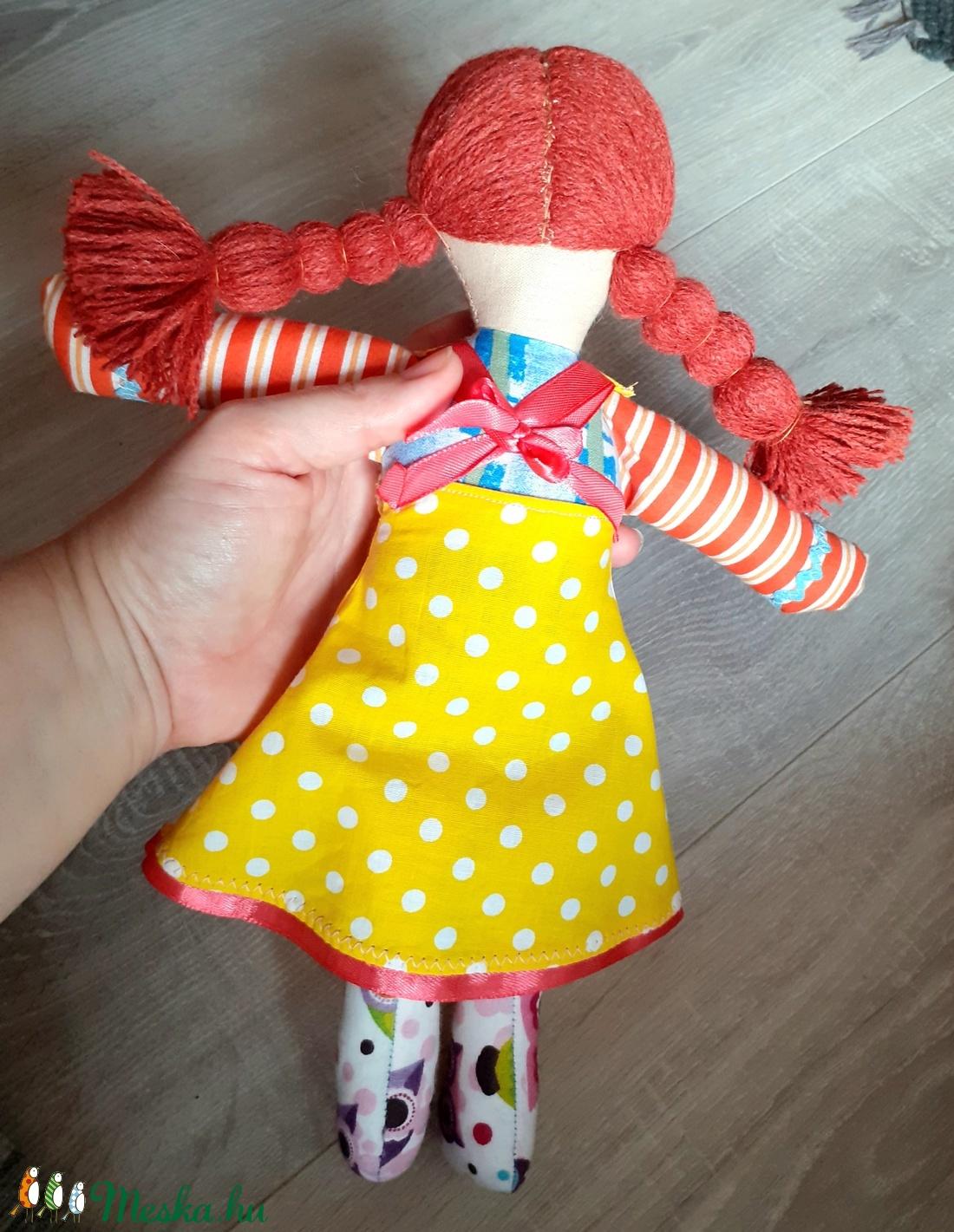 Lány rongybaba textilbaba baba öltöztethető  - játék & gyerek - baba & babaház - baba - Meska.hu