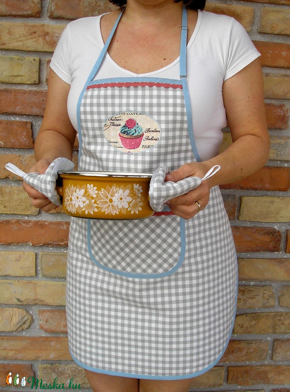 413bcb909c ... Női kötény + két fülfogó (rózsás muffin) (Juaniita) - Meska.hu