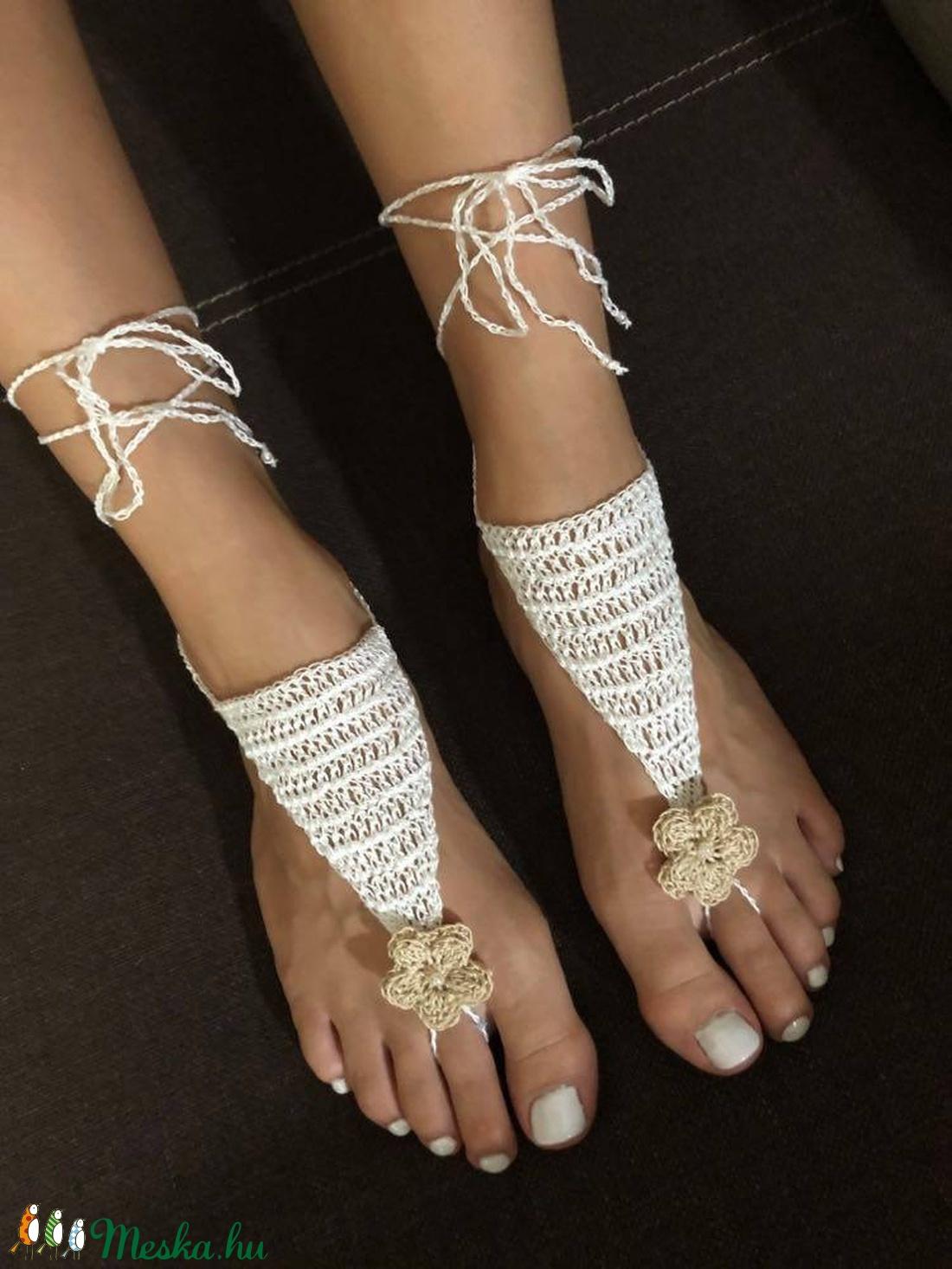 Lábfejdísz/ beach sandals Flower2 - ékszer - lábdísz és testékszer - lábgyűrű és lábdísz - Meska.hu