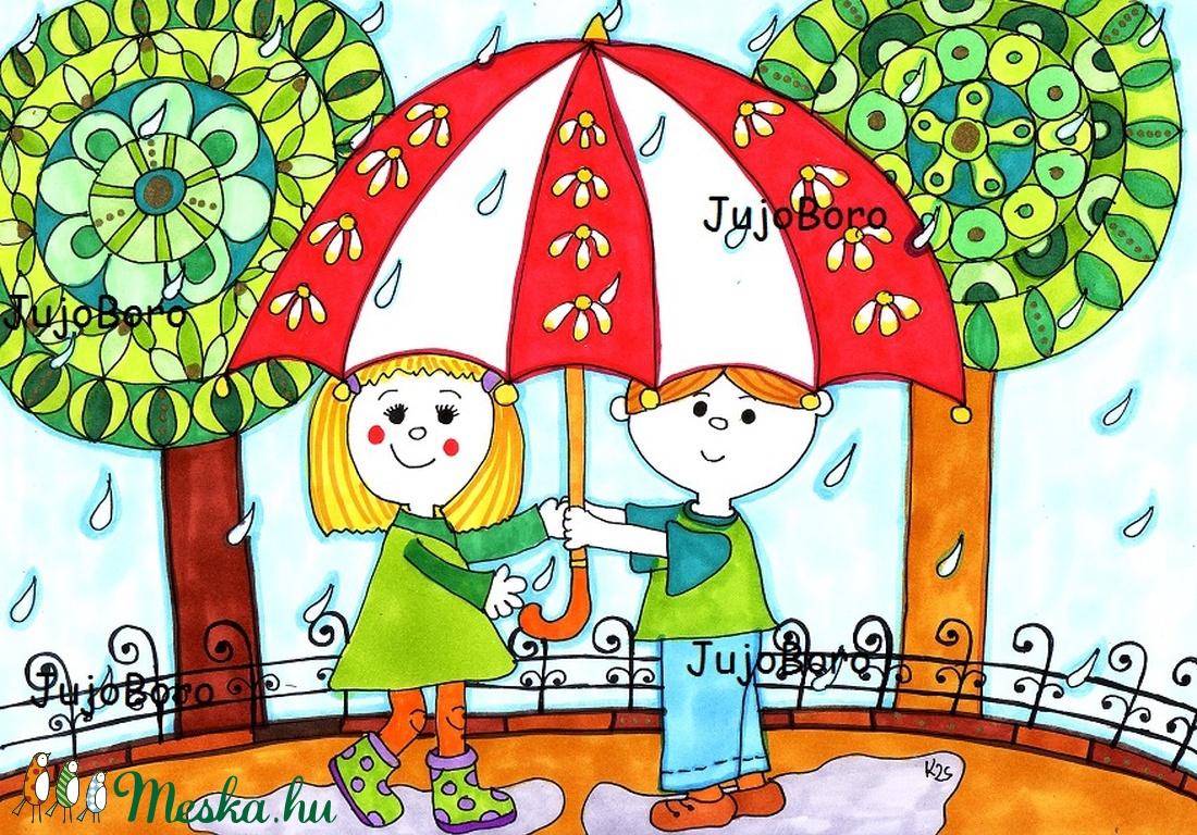 Ketten az esőben (JujoBoro) - Meska.hu