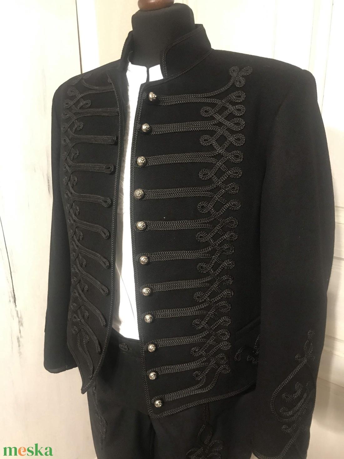 Betyár kabát, mente, számadókabát Rákóczi zsinórozással - ruha & divat - férfi ruha - kabát - Meska.hu