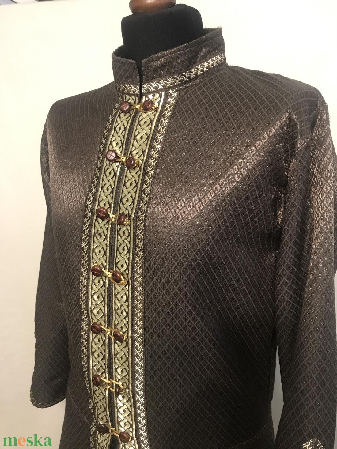 Kaftán brokát - barna-arany  - ruha & divat - férfi ruha - Meska.hu