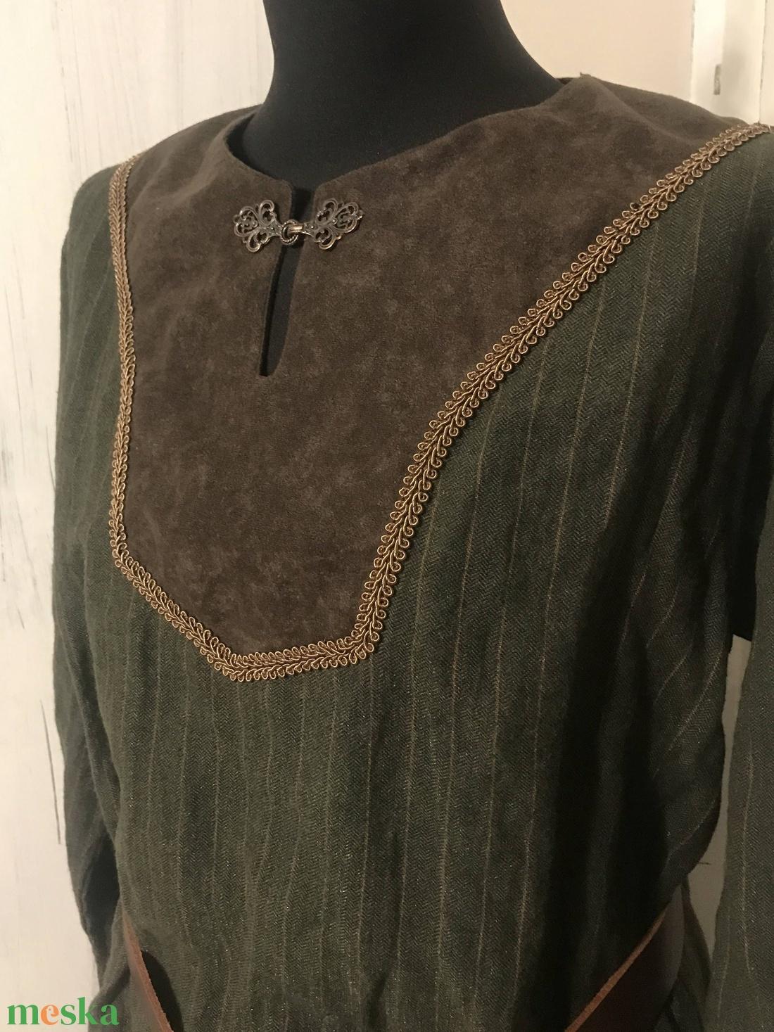 Tunika, kaftán  - zöld-barna - harcosoknak :) - ruha & divat - férfi ruha - Meska.hu