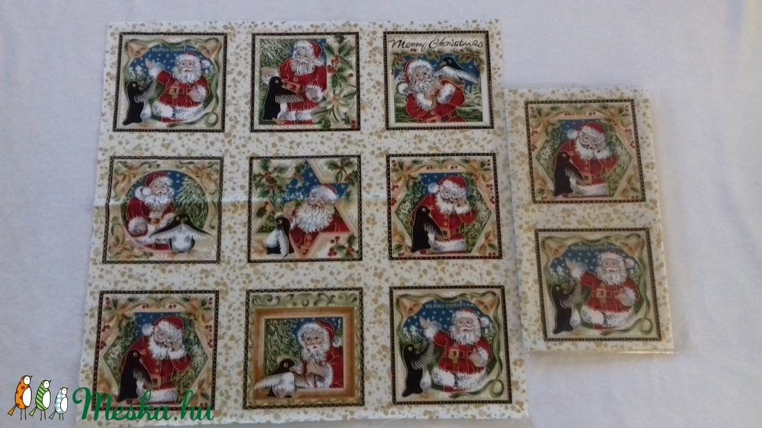 Patchwork anyag (Karácsony 5.) - textil - pamut - Meska.hu