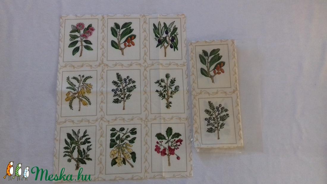 Patchwork anyag (Növény) - textil - pamut - Meska.hu